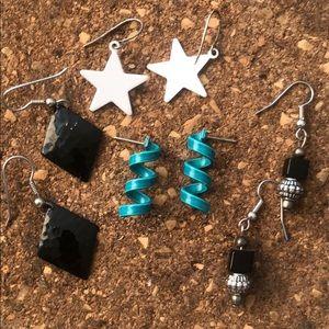 4 vintage earrings bundle
